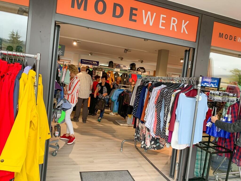 Modewerk Oberstaufen Galerie Eingangsbereich