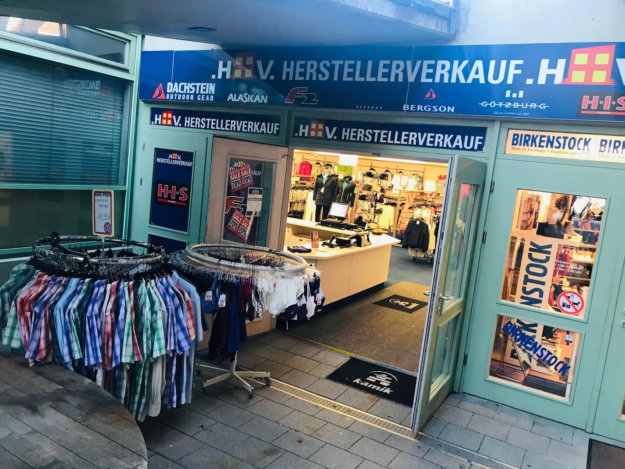 Herstellerverkauf Bad Hindelang Eingang Galerie