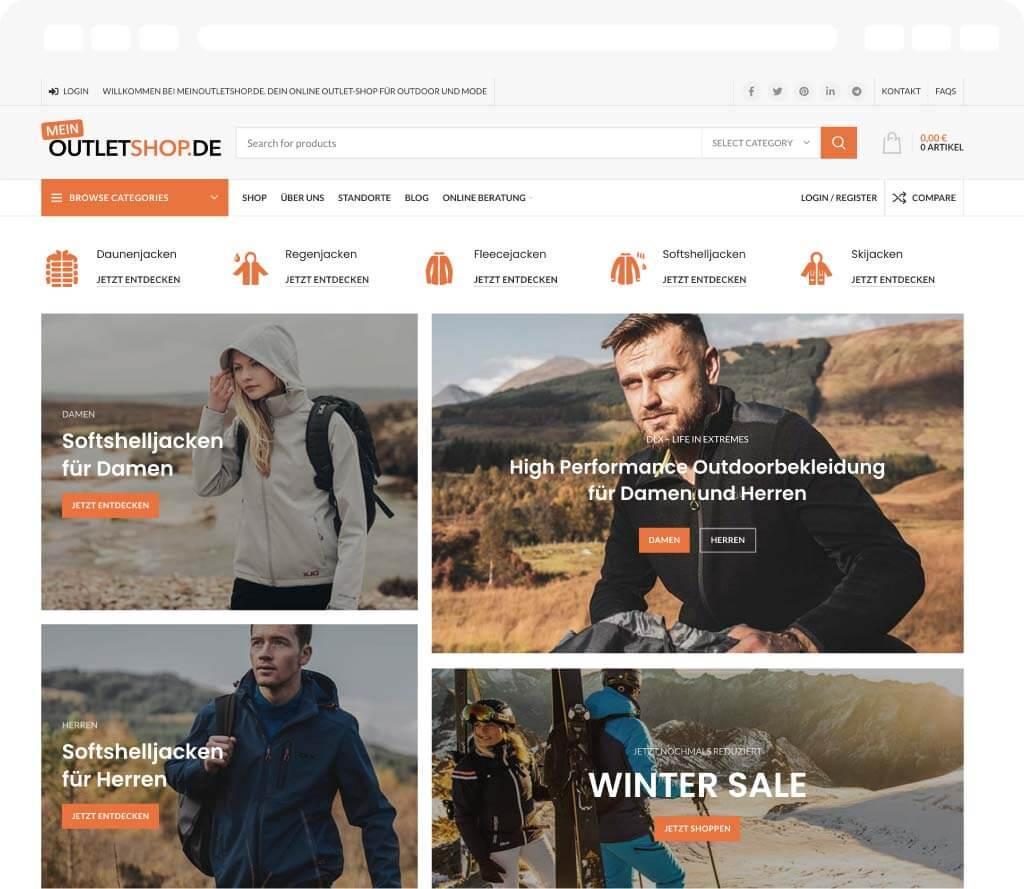 Online Shop www.meinoutletshop.de