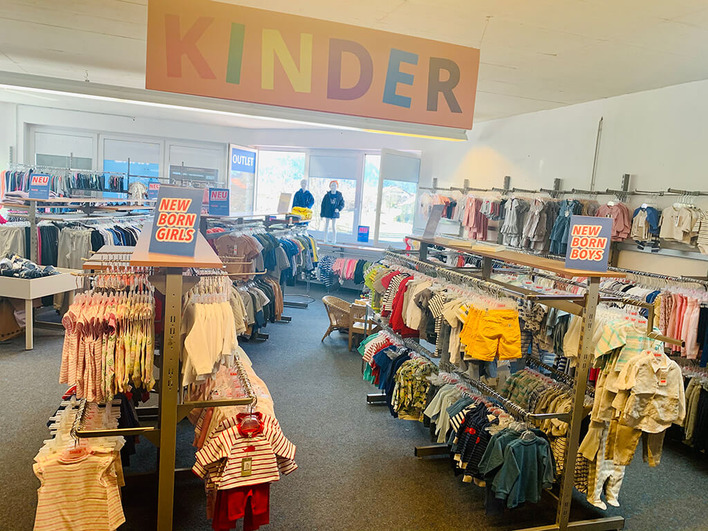 Herstellerverkauf Schwangau Kinderabteilung